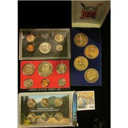 1564 _ Four-piece American Bicentennial Bronze Medal Set; 2005 P, D, S Westward Journey Nickel Serie