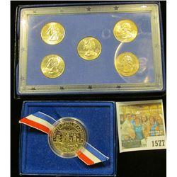 "1577 _ 2000 ""Five Quarters Uncirculated Set""; & 1986 S Proof Statue of Liberty Half Dollar in origin"