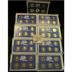1579 _ 1999 S to 2007 S Complete set of Proof United States Quarter in original Proof Set boxes.