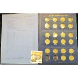 1580 _ 1913 D varietey One to 1938 D Partial Set of Buffalo Nickels in a Deluxe Whitman album. It wi