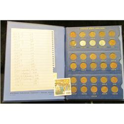 1581 _ 1941-61 Lincoln Cent Set, missing only the 1955 P and over dates. Stored in a Deluxe Whitman
