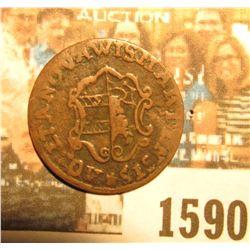 1590 _ 1751 Germany 3 Pfennig Copper Coin.