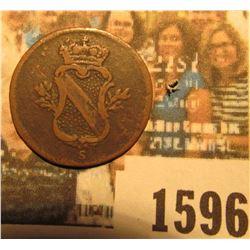 1596 _ 1766 Baden, Germany 1/4 Kreu, VF. Catalog $40