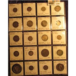 1598 _ Interesting group of (20) Silver Foreign Coins from around the World. All attributed,