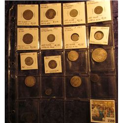 1599 _ (17) Old Silver Foreign Coins dating back to 1727. Quite an interesting group.
