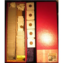 "1604 _ Red 14"" Double Row Stock Box 95% full of carded, ready for Flea Market 1950-51 Korean War era"