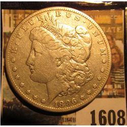 1608 _ 1896 S U.S. Morgan Silver Dollar.