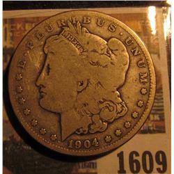 1609 _ 1904 S U.S. Morgan Silver Dollar.