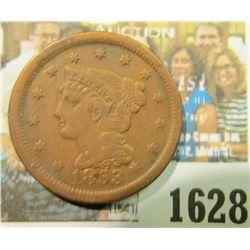 1628 _ 1853 U.S. Large Cent. VF.