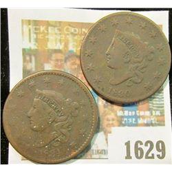 1629 _ 1830 & 1834 U.S. Large Cents.