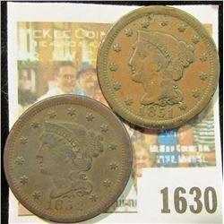 1630 _ 1851 & 1852 U.S. Large Cents.