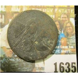 1635 _ 1794 U.S. Large Cent. Scratched and quite worn.