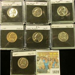 1659 _ 1960P Gem Proof, 60D Gem BU, 1961P Gem Proof, 61D Gem BU, 1962P Gem Proof, 62D Gem BU, & 63P
