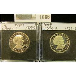 1666 _ 1979 S Type One & Two Gem Cameo Proof Susan B. Anthony Dollars. All stored in special holders