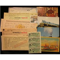 "1675 _ Group of ten pieces of Rail Road Memorabilia, including: ""The Kansas City Belt Railway Compan"