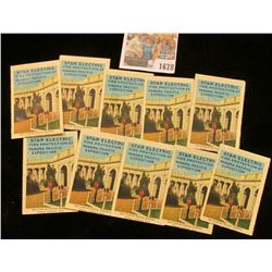 "1678 _ (10 pcs.) ""Star Electric Fire Protection at Panama Pacific Exposition"" Stamps, all excellent"