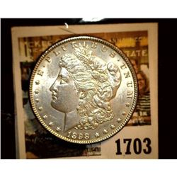 1703 _ 1898 P U.S. Silver Morgan Dollar, Choice BU 63.