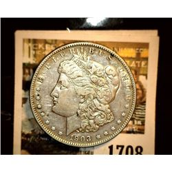 1708 _ 1903 O U.S. Silver Morgan Dollar, VF.