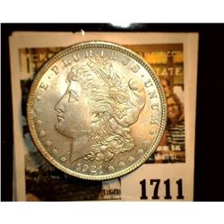 1711 _ 1921 P U.S. Silver Morgan Dollar, Choice BU 63.