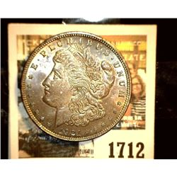 1712 _ 1921 P U.S. Silver Morgan Dollar, Choice BU 64, gorgeous toning.