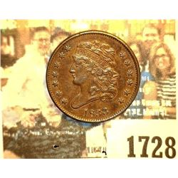 1728 _ 1833 U.S. Half Cent, mostly Brown Uncirculated.