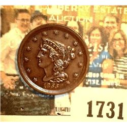 "1731 _ 1855 U.S. Half Cent, graded at the time of his purchase as ""MS63 BR."". Still a nice high grad"