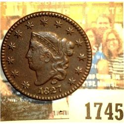 1745 _ 1827 U.S. Large Cent, EF Dark.