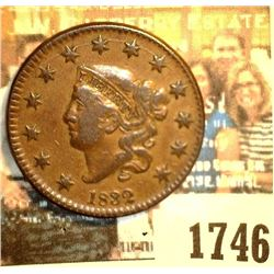 1746 _ 1832 U.S. Large Cent, Medium letters, VF+.