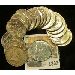 1802 _ 1969 D Original Gem BU Roll of 40% Silver Kennedy Half Dollars. (20 pcs.).