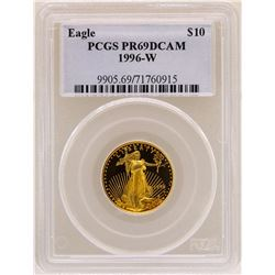1996-W $10 American Gold Eagle Coin PCGS PR69DCAM