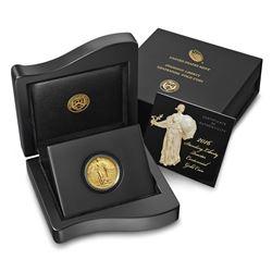 2016-W Standing Liberty Quarter Dollar Gold Centennial Commemorative Coin with B