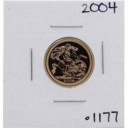 2004 Great Britain Elizabeth II 1/2 Sovereign Gold Coin