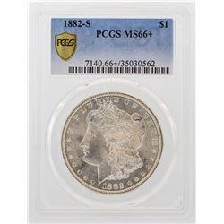 1882-S $1 Morgan Silver Dollar Coin PCGS MS66+