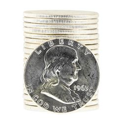 Roll of (20) 1963 Brilliant Uncirculated Franklin Half Dollar Coins