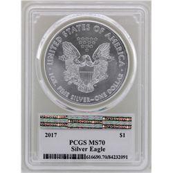 2017 $1 American Silver Eagle Coin PCGS MS70