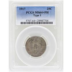 1917 Standing Liberty Quarter Coin Type 1 PCGS MS64+FH