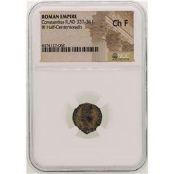 Constantius ll 337-361 AD Ancient Roman Empire Coin NGC Ch F