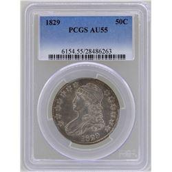 1829 Capped Bust Half Dollar Coin PCGS AU55