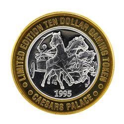 .999 Silver Caesars Palace Las Vegas, Nevada $10 Casino Limited Edition Gaming T