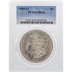 1885-O $1 Morgan Silver Dollar Coin PCGS MS64 Nice Color