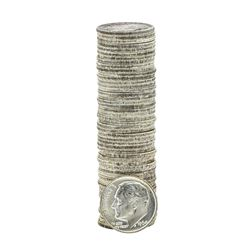 Roll of (50) 1964-P Brilliant Uncirculated Roosevelt Dimes