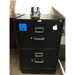 2 Drawer legal black filing Cabinet with Electric Pencil Sharpener
