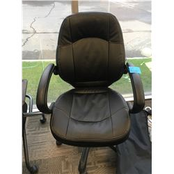 Office black Chair Adjustable on wheels