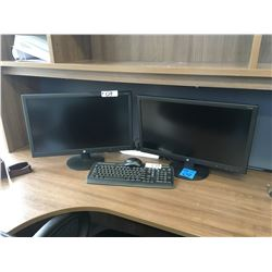 2- HP Monitors V241P with keyboard and cables