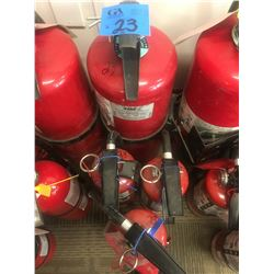 2 @ 20lbs with 3 @ 5lbs fire extinguisher charged
