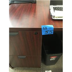 2pc cherrywood finish desk, with double sided DR, plus 5 shelf book case, with office trays,plus cor