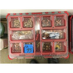 Milwaukee 2pc tool Caddy, copper and brass various fittings