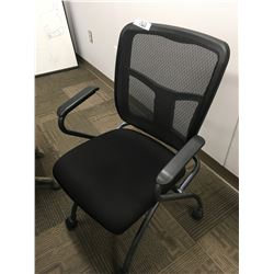 2 Black back mesh office chairs