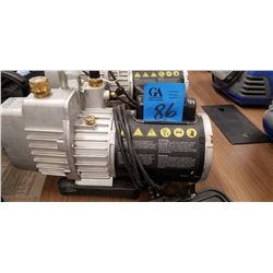 YJ SUPEREVAC, 2 stage, 6 cfm, vacuum pump, Model: 93560, S/N:X460120