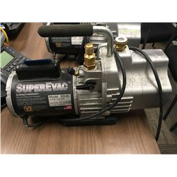 YJ SUPEREVAC, 2 stage, 6 cfm, vacuum pump, Model: 93560, S/N X442726